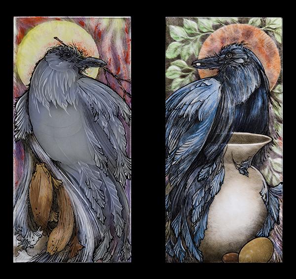 Kathy Barnard White Raven: Haida Story, Black Raven: Aesop's Fable